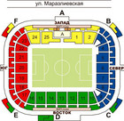 "Схема нового стадиона  ""Черноморец "" ."