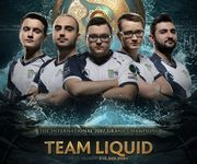 Фото Team Liquid - чемпионы The International 2017
